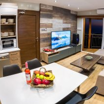 Contemporary style living and kitchen area