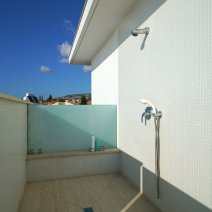 Pool side shower