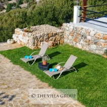 Relaxing areas around the private swimming pool