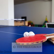 Play area with table tennis