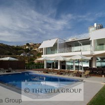 Pool and terraces with direct sea views