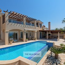 Spacious furnished terrace area and private heated infinity swimming pool