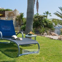 Plenty of sunbeds for relaxing under the Cyprus sun