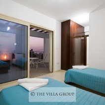 Watch the sunsets from the shared furnished balcony
