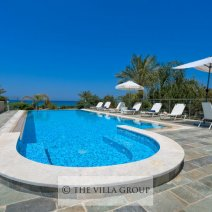 Huge private swimming pool and large patio area