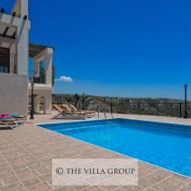 Large swimming pool terrace with stunning views
