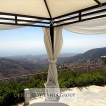 Breathtaking panoramic views form the upper terrace