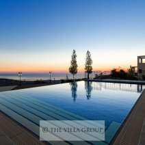 Pool at sunset with superb views