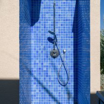 Poolside shower