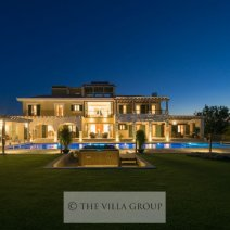 The villa is set in a luxurious golf resort in the hills