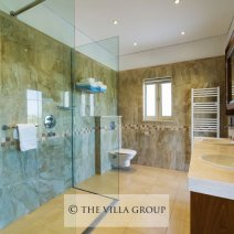Shower room with 'his and hers' sinks