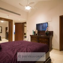 Double bedroom with ample wardrobe space and flat screen TV