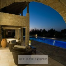 Enjoy the evening views over the swimming pool
