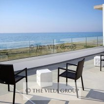 Top floor terrace with panoramic sea views