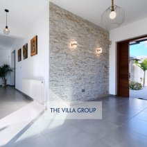 As you enter the villa's front door